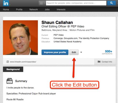 LinkedIn Step 1